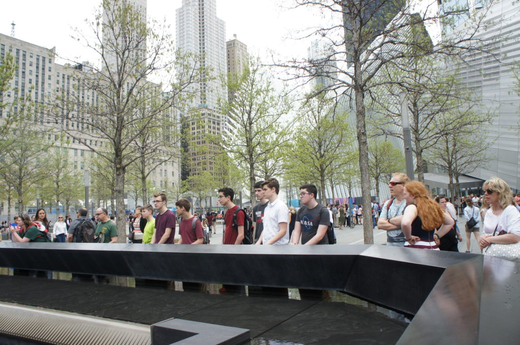 Troop 89 members pay their respects at the 9/11 Memorial
