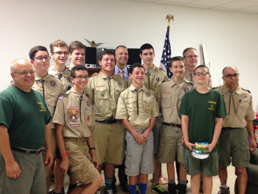 Congressman Scott Perry poses with the troop